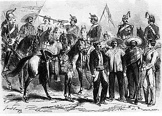 Tropas mexicanas durante la intervención francesa