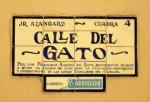 Calle del Gato, antiguamente callejón del Gato