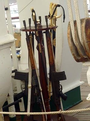 Armas del portalón de popa