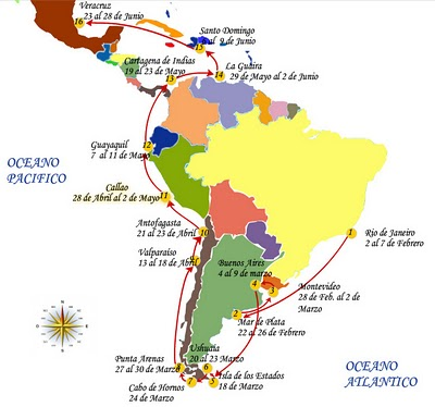 Derrota de Velas Sudamérica 2010
