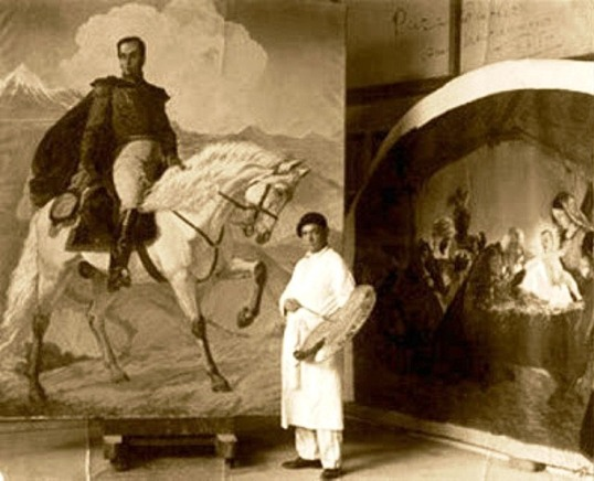 Tito Salas y su Bolivar en el Chimborazo
