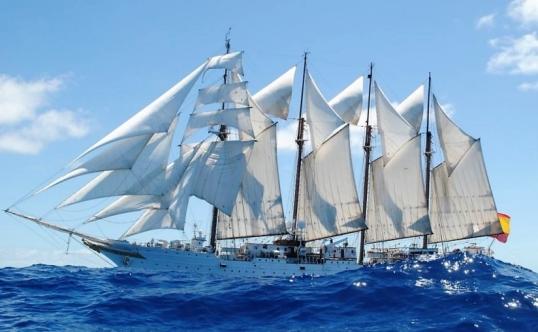 Juan Sebastián Elcano, a toda vela
