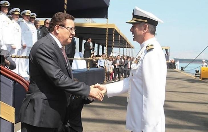 Unión. Ministro de Defensa, despide al comandante de l BAP Unión en su Tercer VIEX, 2018